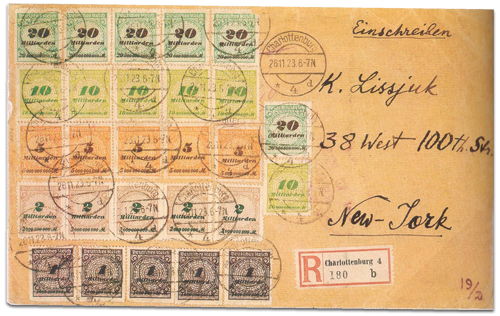 German Hyperinflation cover