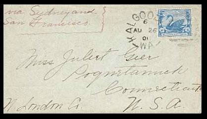 Kalgoorlie, Western Australia to Poquetanuck, Connecticut