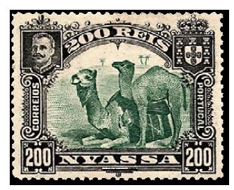 stamp-nyassa-camels-1901-200-rein