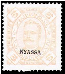 stamp-nyassa-mozambique-5-rein-overprint