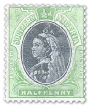 south-nigeria-1901-halfpenny-yell-green-black