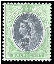 south-nigeria-1901-halfpenny-yell-green-black