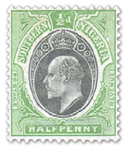 south-nigeria-1903-halfpenny-yell-green-black