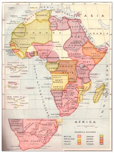 Africa Map 1908