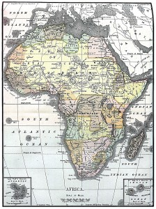 1890 Africa Map