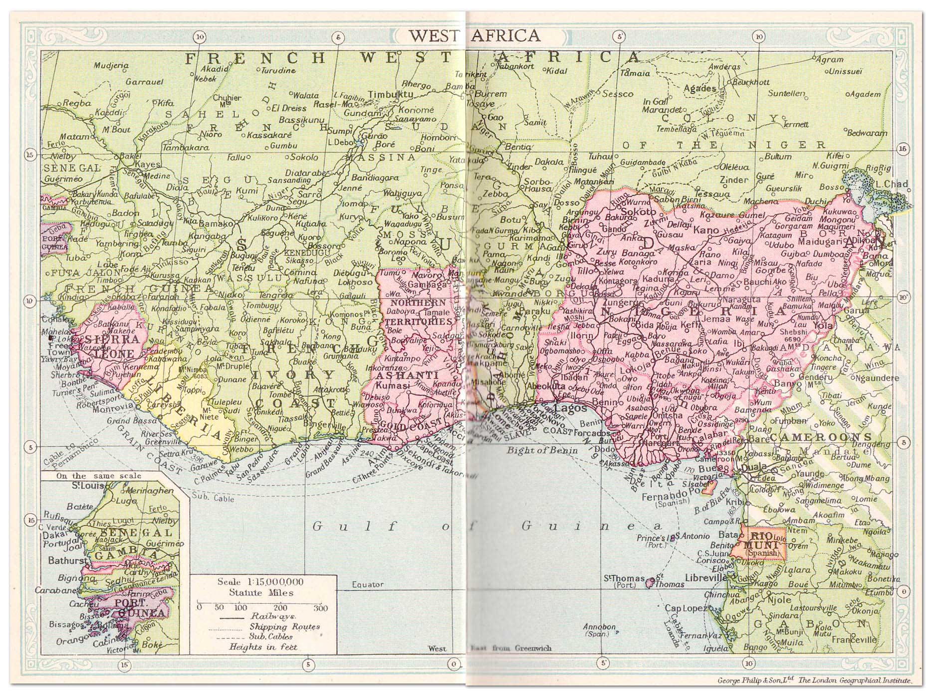 Share West Africa Map 1743