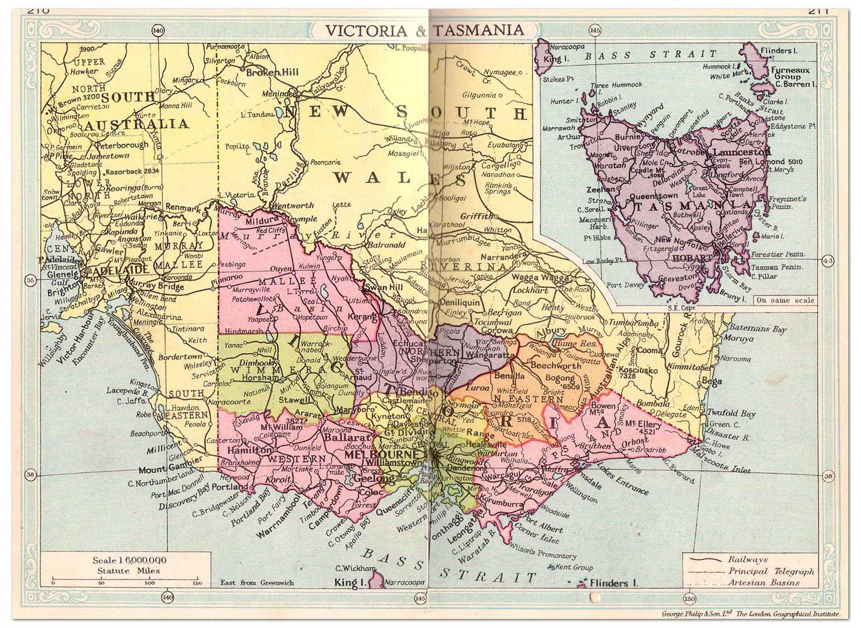 victoria australia map: