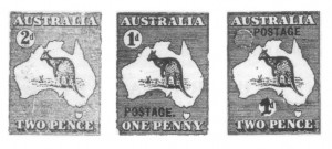 first kangaroo stamp designs