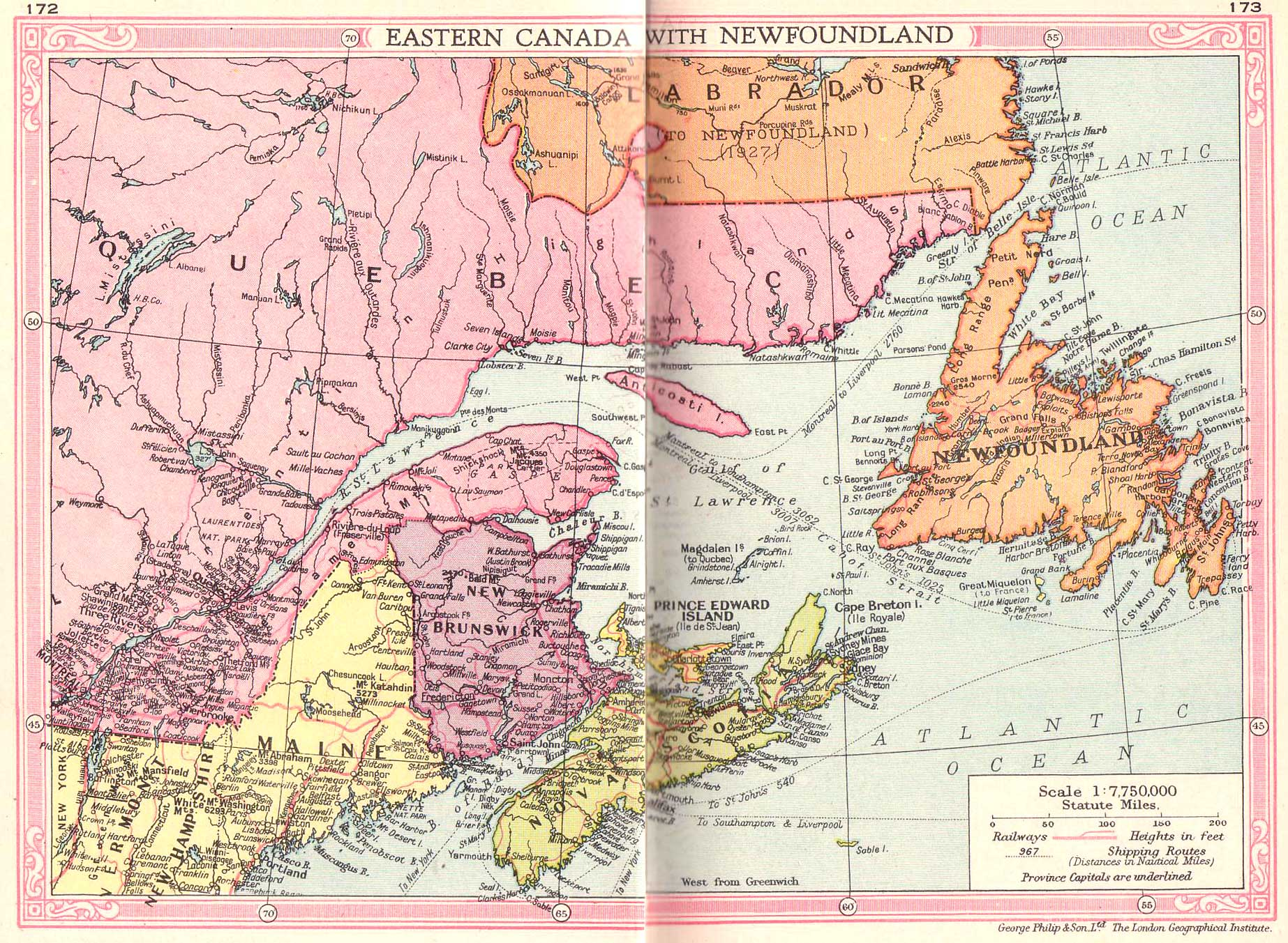 Canada East And Newfoundland Map Philatelic Database - Newfoundland map