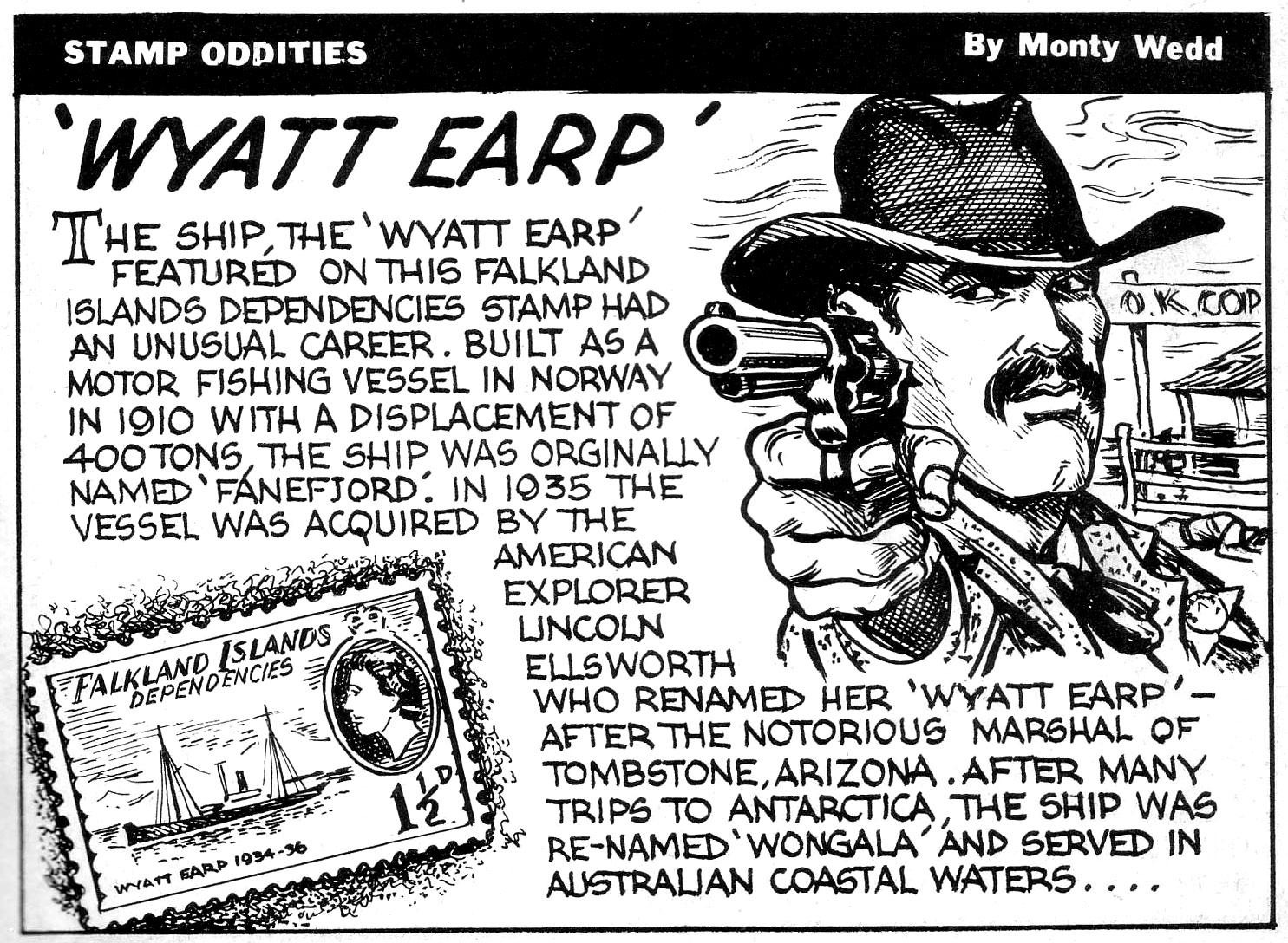 Monty Wedd Stamp Oddity
