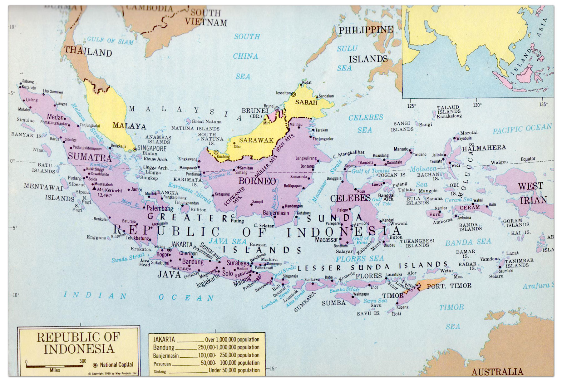 Indonesia Map 1965 Philatelic Database Map indonesia