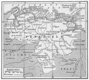 1920 Map of Venezuela
