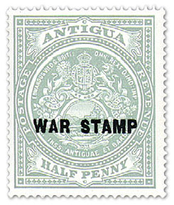 1916 Antigua War Stamp