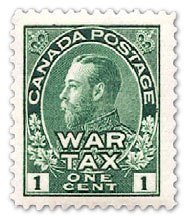 1915 Canadian War Tax stamps