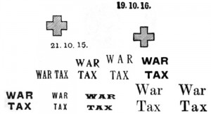 Trinidad war tax overprints