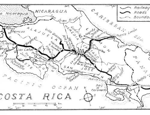 Costa Rica Railway Map (1978)