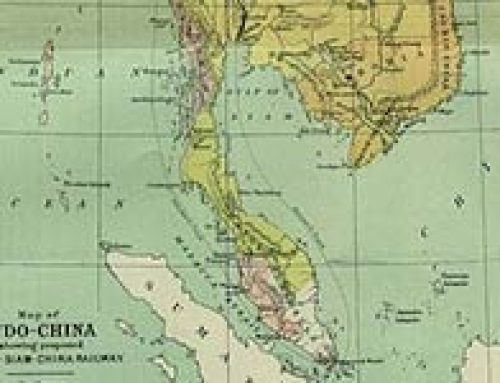 Map of French Indo-China (1886)