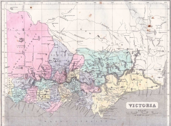 Victoria Australia Map Gall and Inglis 1871 – Map Victoria Australia