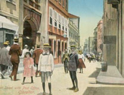 Gibraltar Postcard: Waterport Street Post Office (1912)