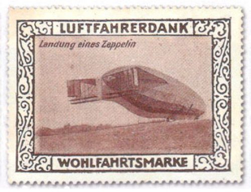 Zeppelin Stamps: German Gasbags