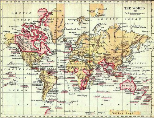 Map of the British Empire (1897)