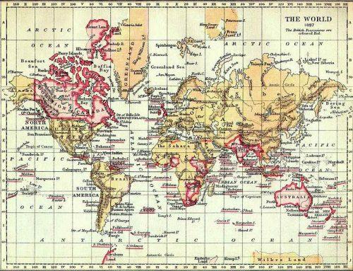 Map of the British Empire (1897)