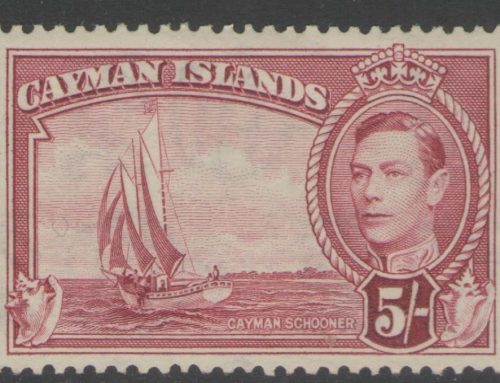 Stamps of Cayman islands: George VI 5/- (1938)