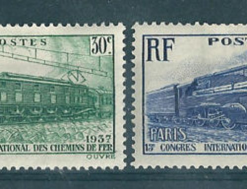 Stamps of France: International Railway Congress (1937)