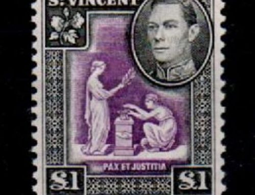 Stamps of St. Vincent: £1 Purple & Black (1938)