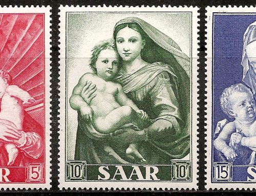 Stamps of Saar: Marian Year (1954)