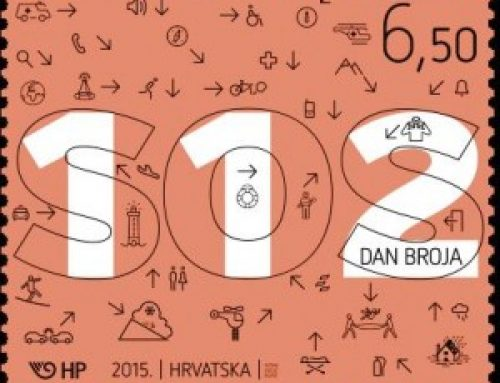 Stamps of Croatia: Number 112 Day (2015)