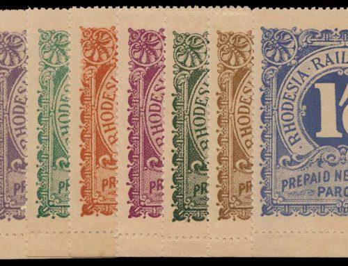 Railway Newspaper Parcel Stamps of Rhodesia