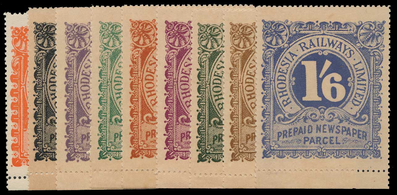 Rhodesia Railway Parcel Stamps