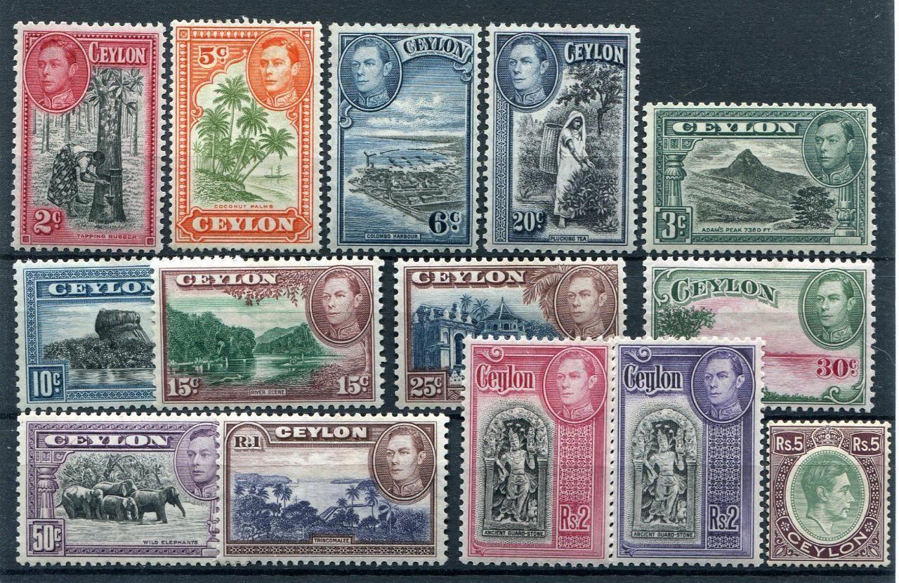 Ceylon Geo VI set