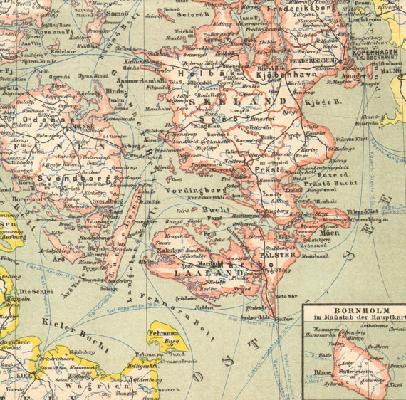 Map Denmark 1889