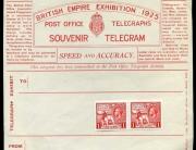 British empire exhib telegram
