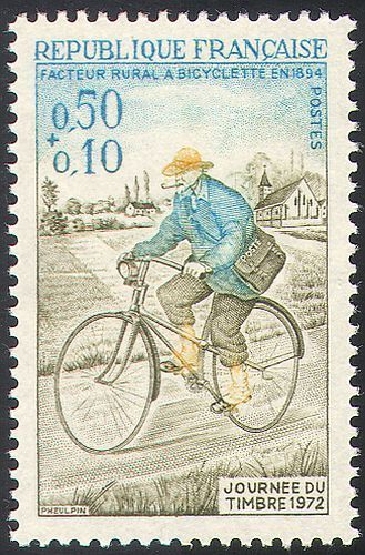 France stamp day 1972