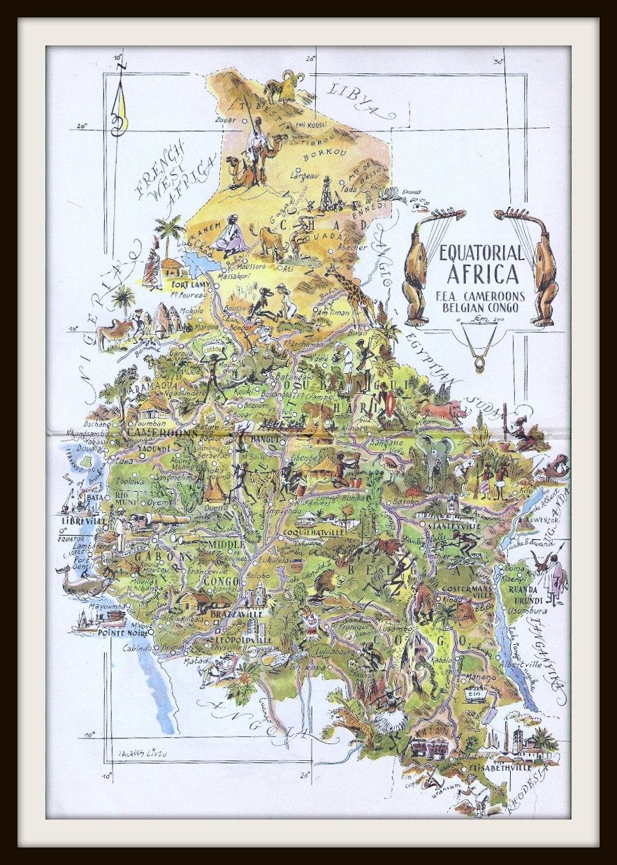 map equatorial africa