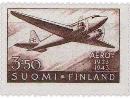 Stamps of Finland: 20th Anniversary of Air Mail Service (1944)