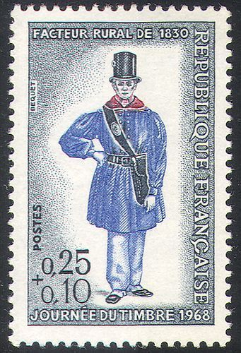 France stamp day 1968