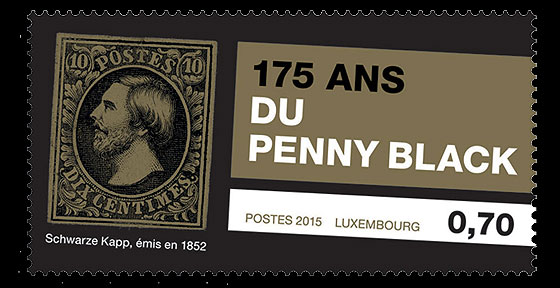 Luxembourg Penny black 2015