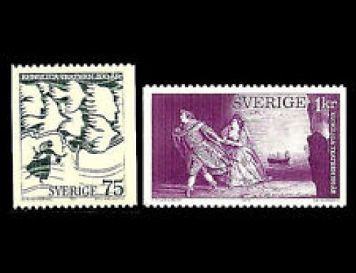 Stamps of Sweden: Swedish Royal Theatre (1973)