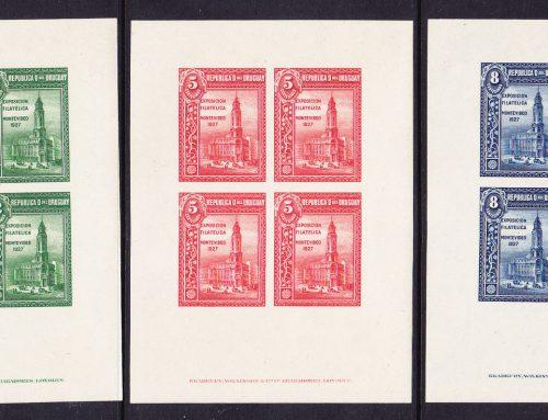 Stamps of Uruguay: Montevideo Philatelic Exhibition (1927)