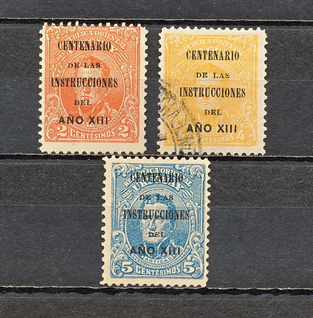 Uruguay Ovpt 1913