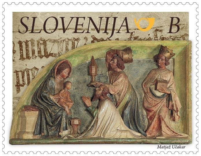 Slovenia adoration-magi-stamp-l