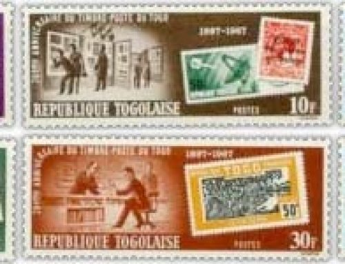 Stamps of Togo: 70th Stamp Anniversary (1967)