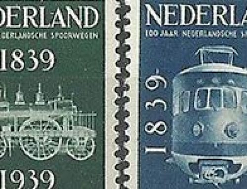 Stamps of the Netherlands: Railway Centenary (1939)