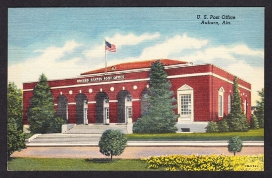 Auburn (IN) United States  city photos gallery : ... sh0ws the Post Office at Auburn in Alabama, probably in the 1930s