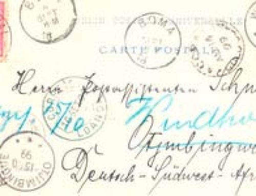 Mail via the Belgian Congo: In Transit