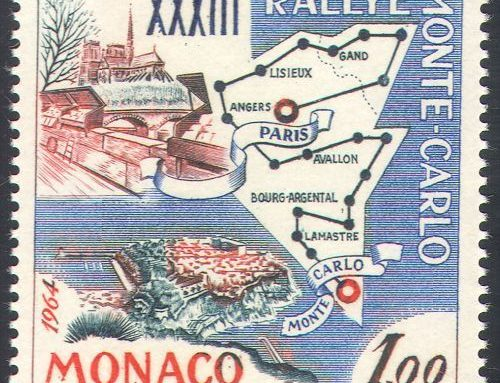 Stamps of Monaco: 33rd Monte Carlo Rally (1963)